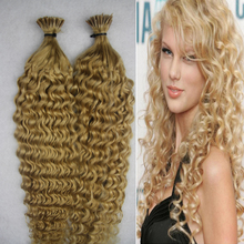 the hair to increase capsule fusion hair extensions 100 human kinky curly braiding hair 100g stick tip pre bonded hair extension(China (Mainland))