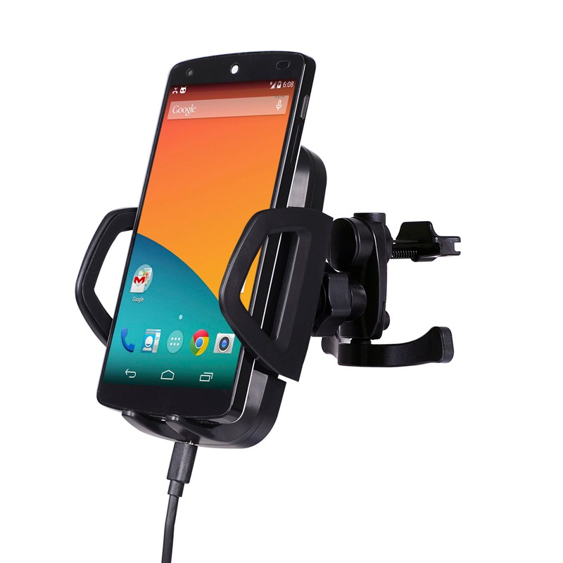 CHOETECH Qi Wireless Car Charger Charging Dock with 3 Coils Charging Area for iPhone 6S 6 Plus 5S 5C, Samsung Galaxy S6 S7 Edge
