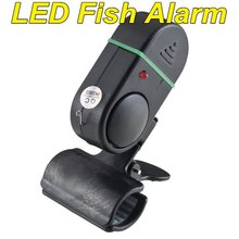 NEW Fishing Rod Pole Electronic Bite Fish Alarm Bell  With LED light