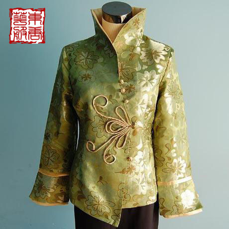 Magnificently winter women's long-sleeve top stand collar woven damask flowers plus cotton tang suit cotton-padded jacket