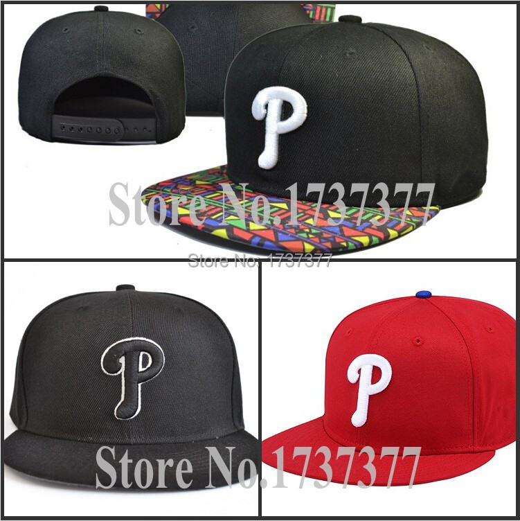 Top quality Men's white P logo embroidery green flat baseball snapback hats Sport team Phillies adjustable caps 3 colors(China (Mainland))