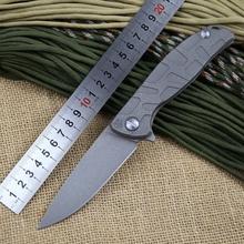 Shirogorov 95 nueva Russian top calidad plegable táctico del cuchillo Stonewashed hoja con rodamiento lavadora titanio aleación de mango
