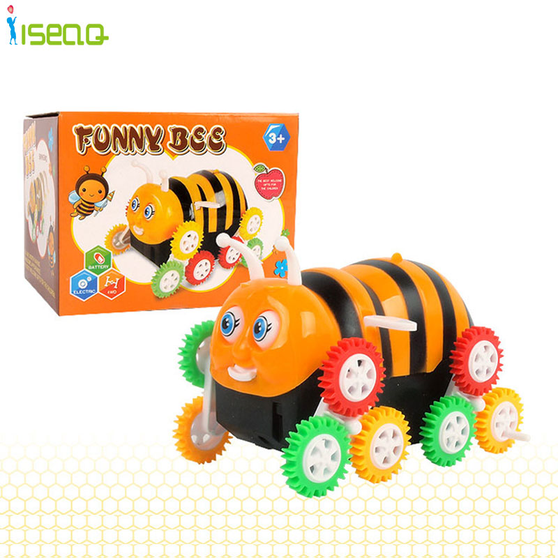 Bee Electric Toy Car Stunt Car Dumpers Children Toy Car Color Wheel Cartoon Encounter Obstacles Flip 12 wheels(China (Mainland))