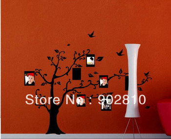 [listed in stock]-Transparent  Decorative Black Photo tree Kids Children room Art Wall decals