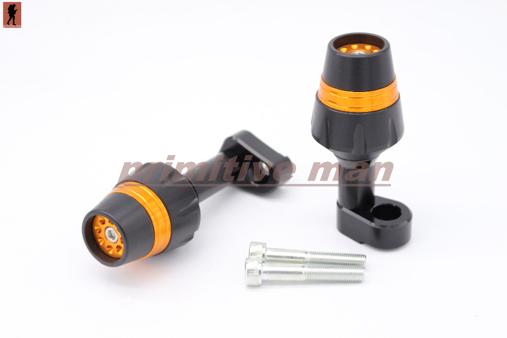 For YAMAHA YZF-R25 YZF-R3 2014-2015 Motorcycle Accessories Frame Sliders Crash Protector Orange<br><br>Aliexpress