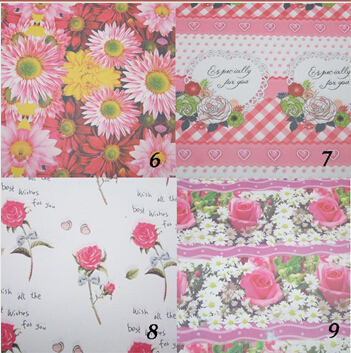 60g Rose Flower Design Gift Wrapping Paper 52*75cm Wrapping Paper For Wedding Decoration Party Daily Gift Souvenir(China (Mainland))