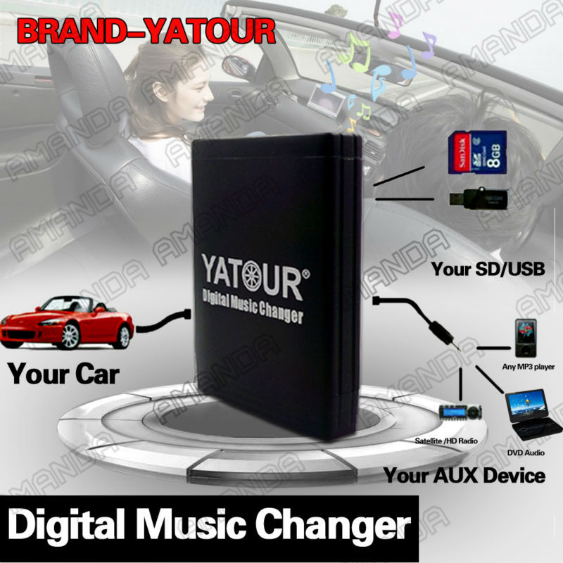 YATOUR CAR ADAPTER AUX MP3 SD USB MUSIC CD CHANGER 6+6PIN CONNECTOR FOR LEXUS ES300/330/350 2004-20011 RADIOS(China (Mainland))