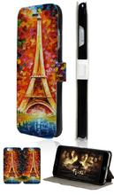 Stand Mobile Phone Bags Eiffel Tower High Quality 2 Card Slot Leather Case Flip Cover For Iphone 5C Free Shipping