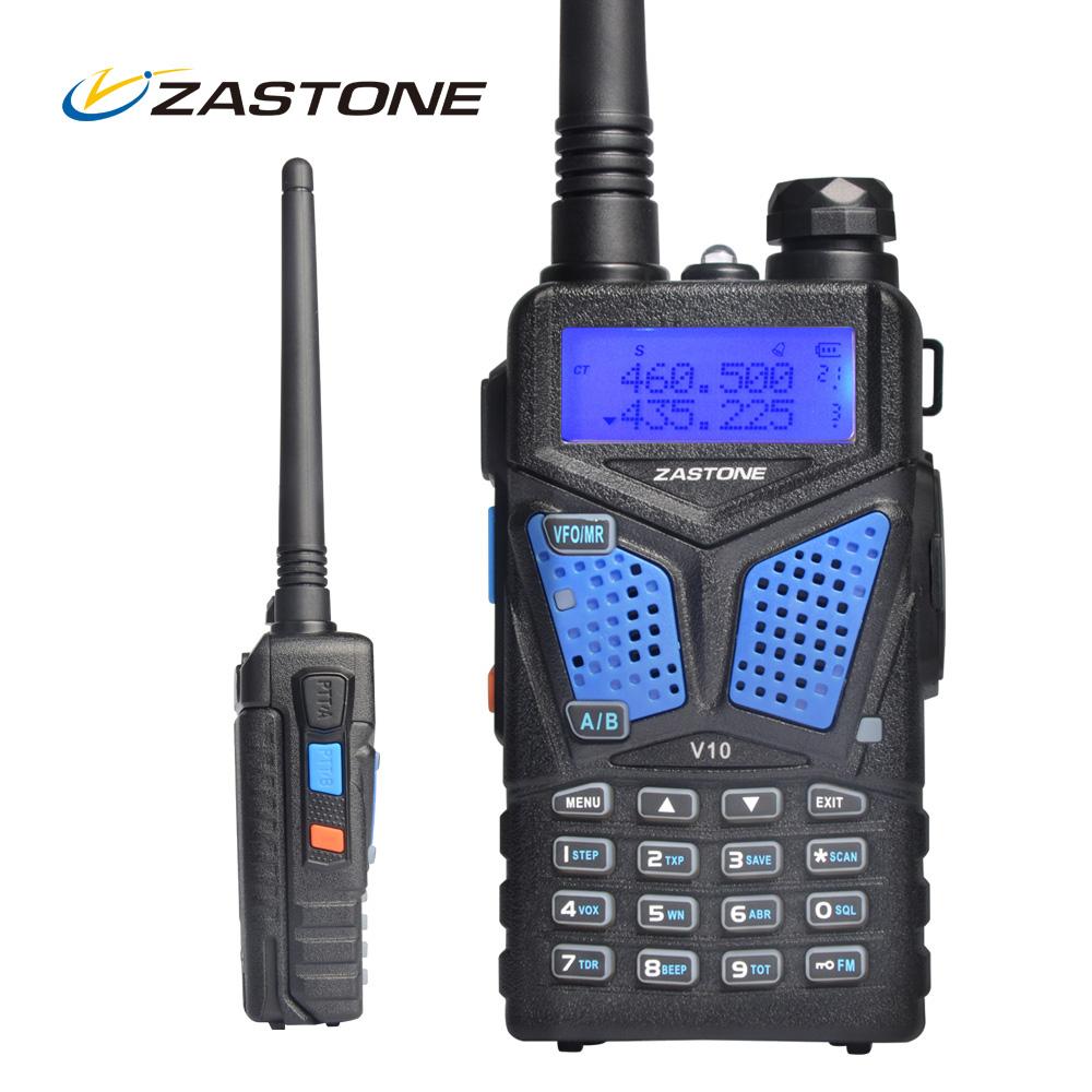 Portable Radio Set Zastone Walkie Talkie V10 Dual Band VHF UHF Handheld Radio Comunicador HF Transceive Two Way Radio Woki Toki(China (Mainland))