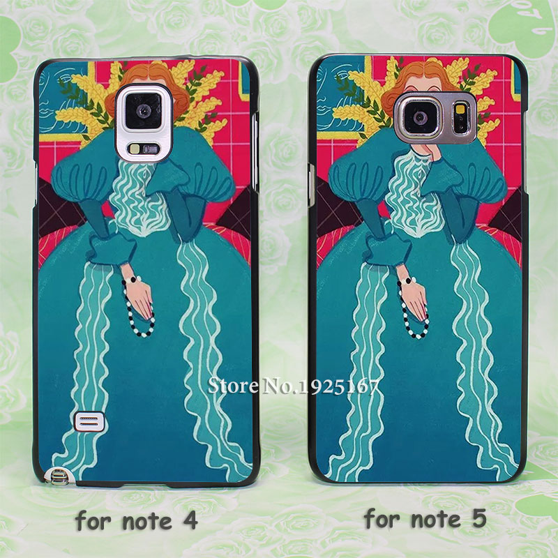 Ugly woman Women's blue hard black Case Cover for samsung galaxy note 2 3 4 5 s6edge plus(China (Mainland))