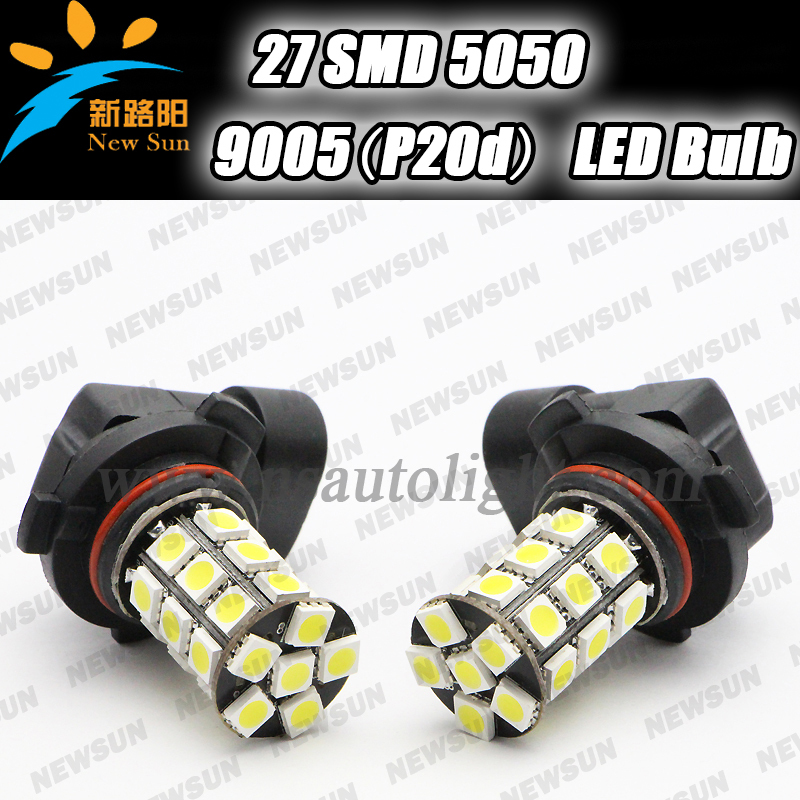 2pcs/lot 5050SMD LED 9005 HB3 P20d 3.6W Fog Light Car 9005 HB3 LED Lamp Auto Fog Bulb 12V White blue Yellow White red green(China (Mainland))