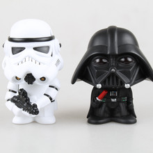 New Star Wars Figures toy Black Knight Darth Vader Stormtrooper Shake Head PVC Action Figure  DIY Educational Toy Doll For Gift