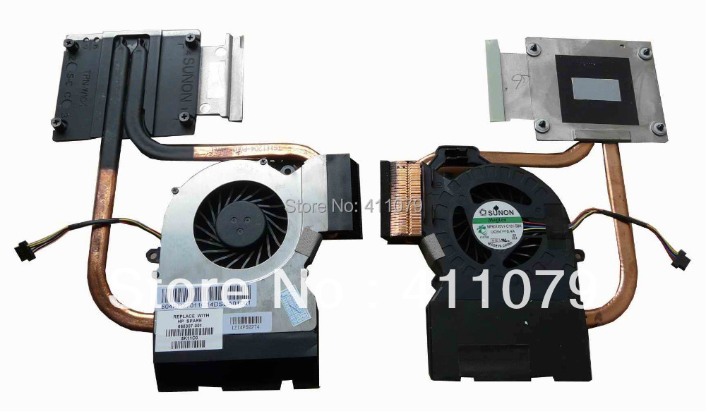 NEW FOR HP DV6-6000 DV6-6100 666526-001 laptop Accessories Parts Replacement CPU Cooling Fan With HeatSink(F502)(China (Mainland))