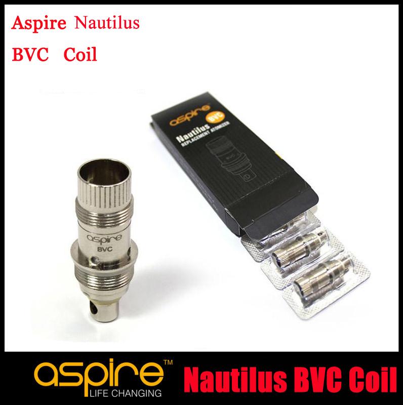 10pc/lot Genuine Aspire Nautilus BVC Coil New Aspire Nautilus Bottom Vertical Coil Aspire BVC coil 1.8 1.6ohm For Mini Nautilus(China (Mainland))