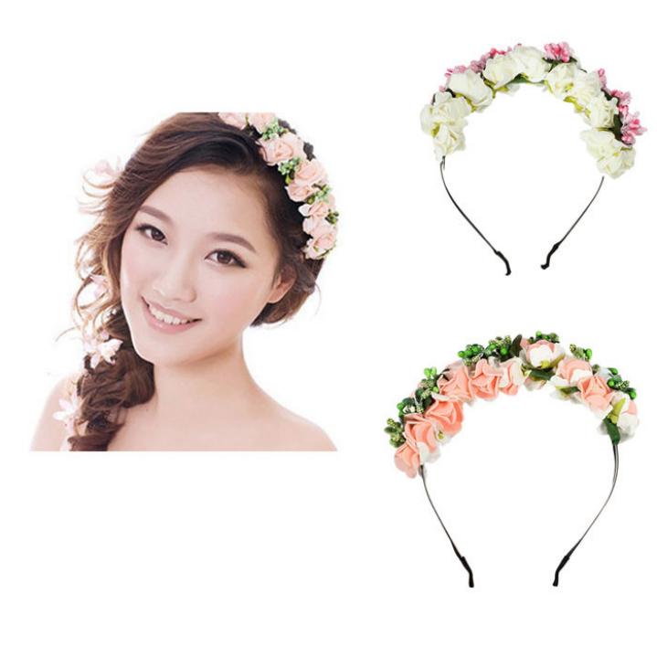 Amazing Korean Style Women Hairbands Flower Floral Bridal Hair Accessories Bride Hair Wreath Wedding Ornaments(China (Mainland))