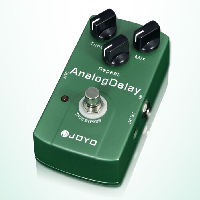 JOYO JF-33 True Bypass Analog Delay Guitar effect Pedal with Warm Output Tone free power suppy and shipping(China (Mainland))