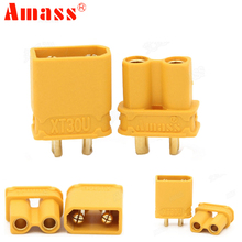 Buy 10pcs Amass XT30U Male Female Bullet Connector Plug Upgrade XT30 RC FPV Lipo Battery RC Quadcopter (5 Pair) for $2.78 in AliExpress store