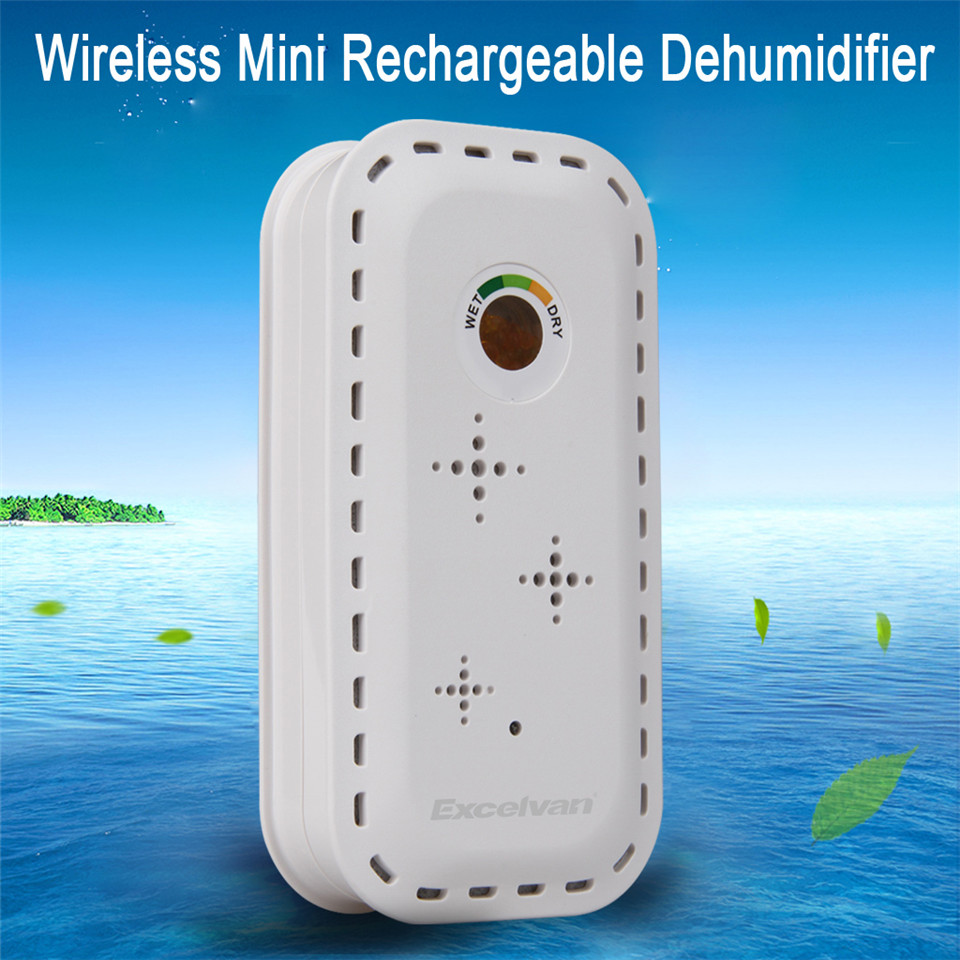 Excelvan Reusable Mini Air Desiccant Dehumidifier Moisture Absorbing Air Dryer AC100-240V For Home Kitchen Wardrobe(China (Mainland))