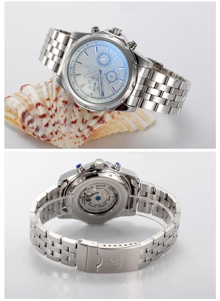 Паника покупке мужской полностью автоматические механические часы мужские лучший бренд класса люкс Военная Дата Нержавеющей Группа Маховик часы