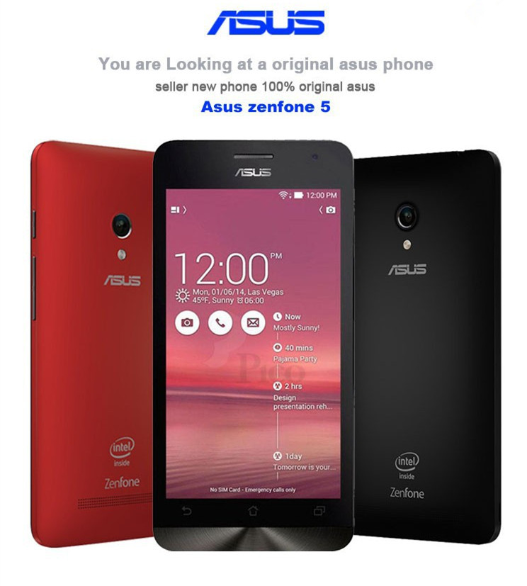 """Original Asus zenfone 5 Mobile Phone Android 4.4.2 for Intel Z2580 5"""" IPS Dual SIM 8MP 2GB RAM 16GB ROM cellphones(China (Mainland))"""