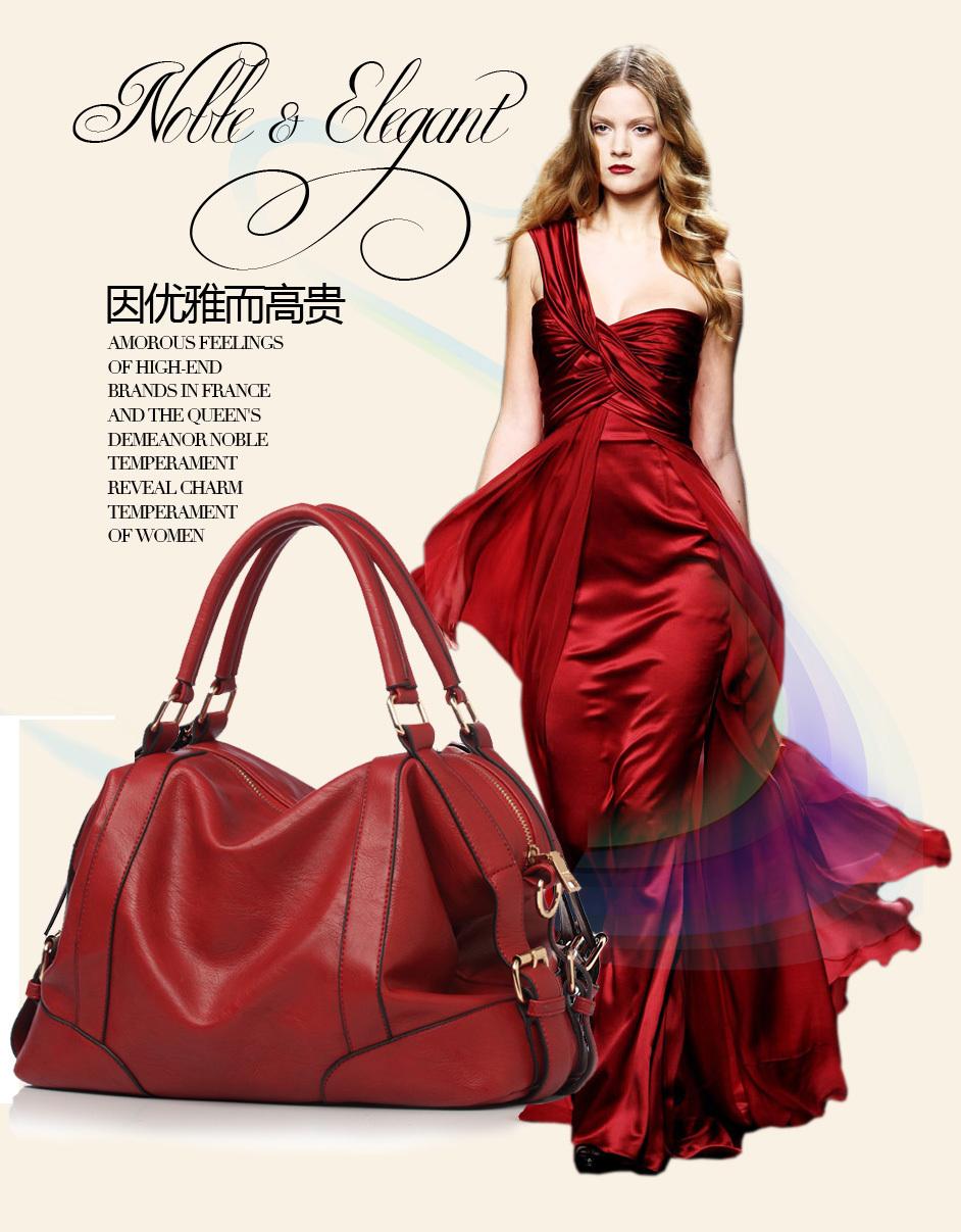 New Arrival 2013 fashion leather bag vintage handbag brand design multifunctional women messenger bag, original design tote(China (Mainland))