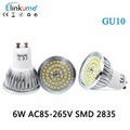 LED GU10 bulb 6W AC85 265V GU10 Spotlight with 50W Halogen Gu10 Light Bulb Replacement for