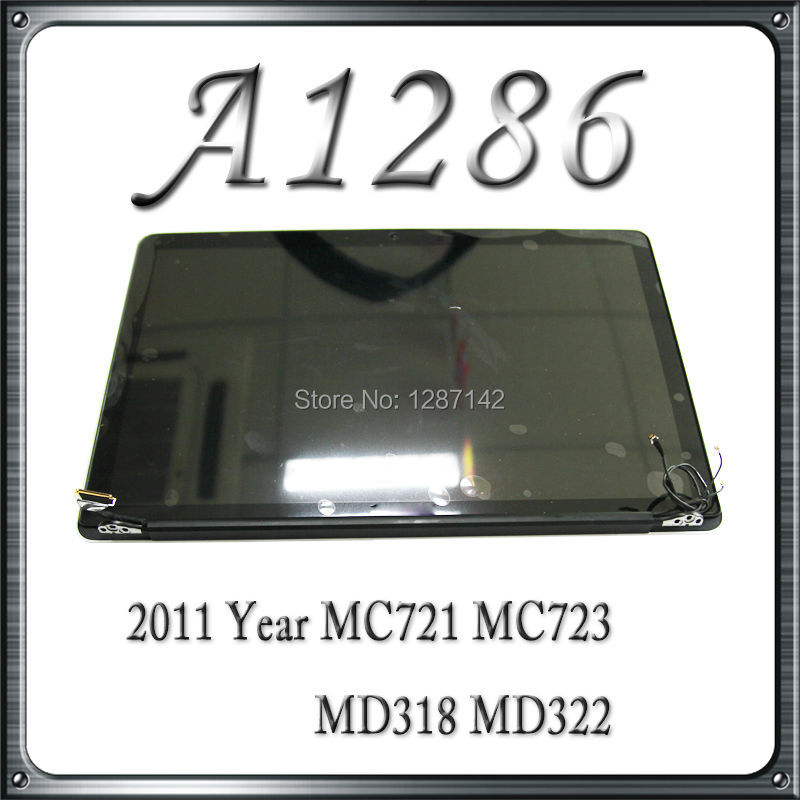 A1286 LCD Screen Display Assembly For Macbook Pro 15 MD318 MD322  2011 Year<br><br>Aliexpress