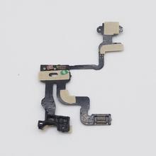 50 pcs Original Mobile Phone Proximity Light Sensor Power Button Flex Ribbon Cable For iPhone 4s Repair Fix Newest Free Shipping