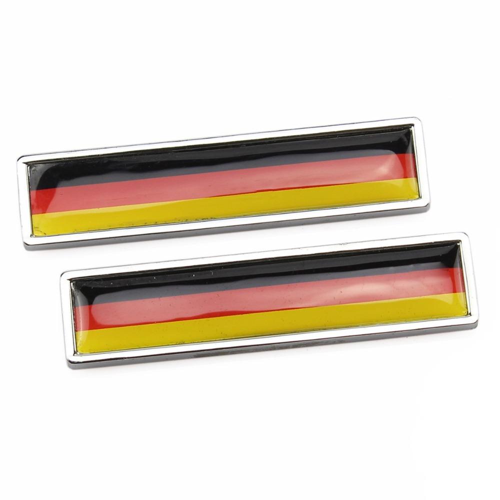 Resin Chrome German Flag Badge Emblem Engine Hood Tailgate 3M Sticker Universal(China (Mainland))