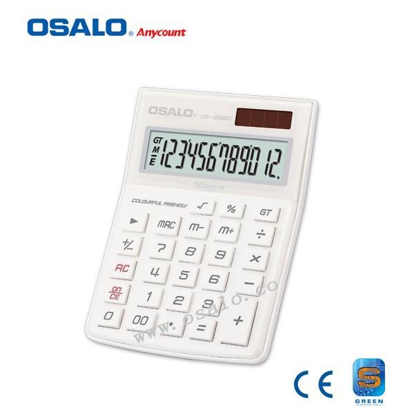 Electrónica 12 dígitos Extra Large Display Calculadora de escritorio lindo colorido doble poder Calculadora Solar Hesap Makinesi(China (Mainland))