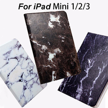 Marble Pattern PU Leather Flip Smart Case For Apple iPad mini 1 2 3 7.9 inch Cover Tablet Stand Original Ultra Slim Shell Fundas(China (Mainland))