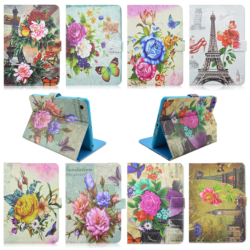 For ipad 2 3 4 Pu Leather flower Pattern Protective Skin Case for apple ipad 2 case for ipad 4 Tablet Accessories S4a92D(China (Mainland))