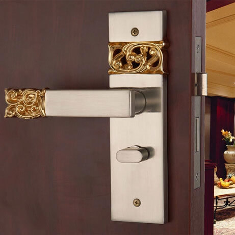 bedroom door locks golden locks european indoor handle lock door
