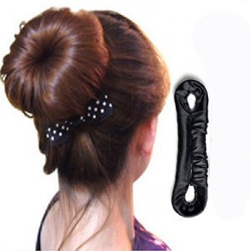 1Pc Hairdressing Tools Elastic Hair Bands Salons Hair Braid Stick Meatball Head Hairbands Dish Updo Headbands Hair Styling Tools(China (Mainland))