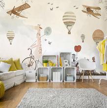 wholesale light cream kidslike freedom fly mural wallpaper decoration for kids' room nursery room wall paper mural