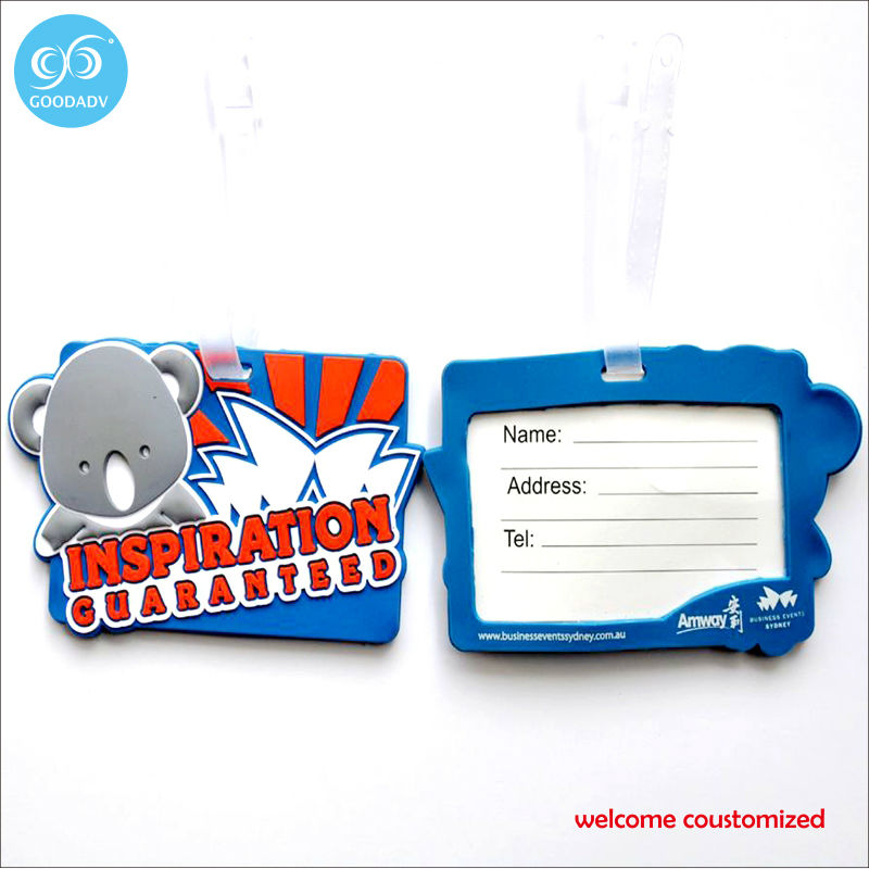 Suitcase accessories Rubber luggage tag cartoon characters printed address label tag ID tag(China (Mainland))