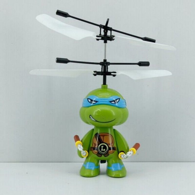 Tmnt helicopter toy hand control usb baby toy plane flying toy cartoon(China (Mainland))