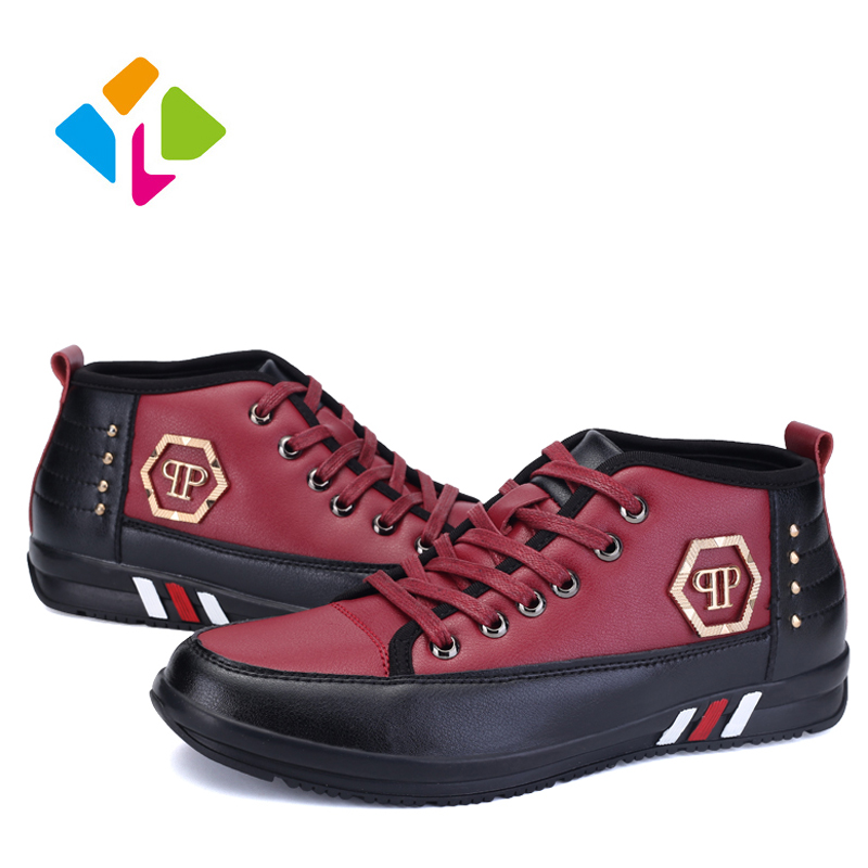 2016 New Spring Winter Men Casual Shoes PU Leather Ankle Shoes For Men Fashion Style Snow Shoes Men Warm Shoes<br><br>Aliexpress
