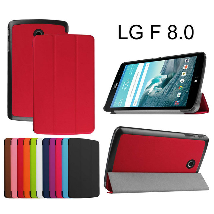 leather stand folio smart tablet case FOR LG G Pad GPad F 8.0 F8.0 V495 V496 8 inch tablet cover case 10PCS<br><br>Aliexpress