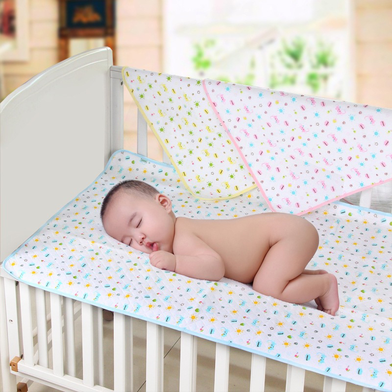 105*70CM High Quality Cotton Baby Reusable Portable Urine Mat Matelas Waterproof Infant Bedding Nappy Changing Cover Pads(China (Mainland))