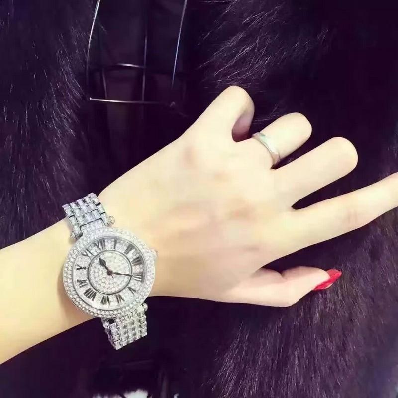 Mashali Мода Полный Австрия Кристалл Вращающийся Циферблат Сталь Ремешок Buiness Кварцевые Часы Для Женщин Наручные Часы relojes mujer 2016