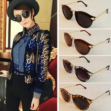 2015 Brand Designer Trend Leopard Sunglasses For Women Men Round Retro Sun Glasses