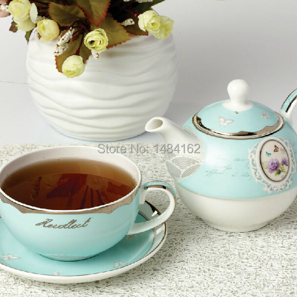 Luxury gift set vintage style bone china tea and coffee set with gold inlay e - Vaisselle de luxe marque ...