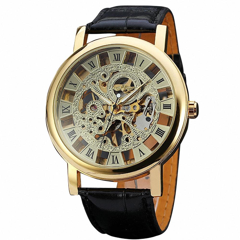 Winner luxury skeleton watch