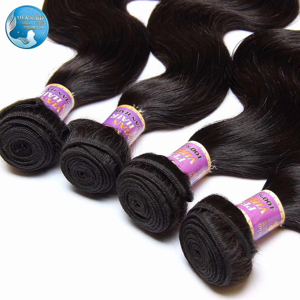 best peruvian virgin hair body wave 400g black 1b human Hair Bundles 7a peruvian  virgin hair body wave 4 bundles 100 human hair
