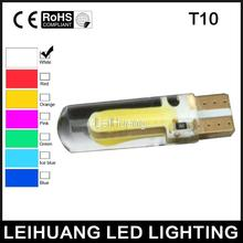 1X COB LED T10 silica 20smd Car led light Side Wedge Bulb xenon White Auto Interior Packing Car Styling