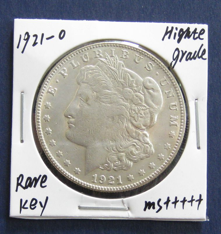 1921-O Morgan Silver Dollar, Rare Date in Series! ** Free Shipping!(China (Mainland))