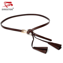 Buy DINISITON Belts Women Fashion Hasp Woman Genuine Leather Belt Designer Brand Cowskin Floral Female Belts Dress for $8.06 in AliExpress store