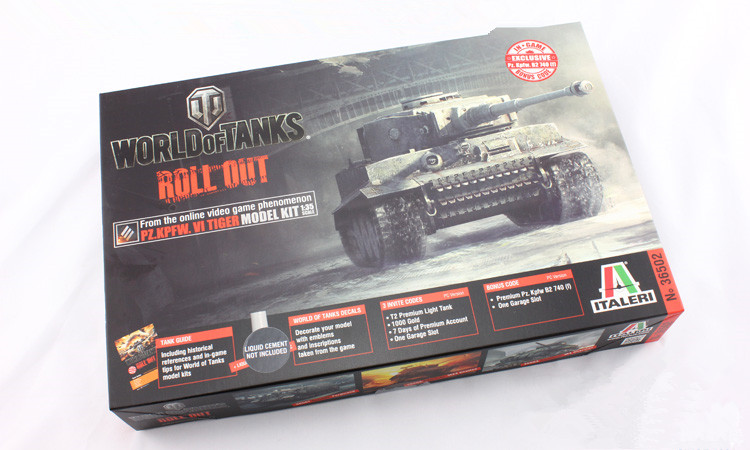 ITALERI #38502 World of Tank Roll Out 1/35 Pz. kPFW.VI TIGER Tank Model Kit(China (Mainland))