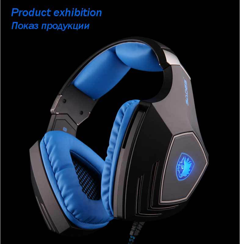 Hot Sale Sades A60 7.1 Sound USB Vibration Gaming Headphone Headset Earphone with Microphone For Gaming Headphones(China (Mainland))